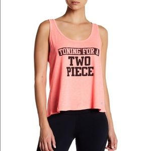 The Balance Collection Graphic Crop Coral Tank NWT